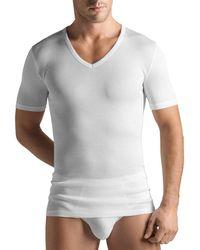 Hanro - Cotton Pure V-neck T-shirt - Lyst