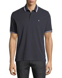 Z Zegna - Pique Polo Shirt With Iconic Flag Logo - Lyst