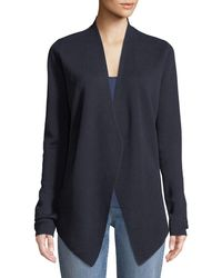 Eileen Fisher - Angle-front Silky Cardigan - Lyst