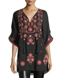 Tolani - Khalisse Half-sleeve Embroidered Tunic - Lyst