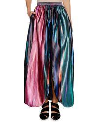 Giorgio Armani - Multicolor Degrade Fluid Silk Skirt W/ Front Vent - Lyst