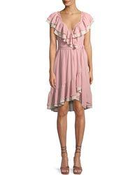 Rebecca Minkoff - Sarah Ruffle Wrap Knee-length Dress - Lyst