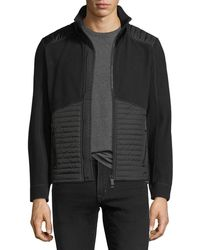 Moncler Grenoble - Knit Zip-front Cardigan With Quilted Panels - Lyst