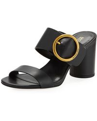 19f1afd36 MICHAEL Michael Kors - Estelle Mid-heel Slide Sandals - Lyst