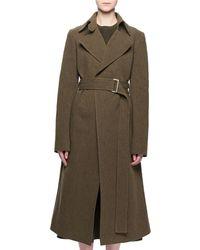 Victoria Beckham - Two-pocket Belted Wool-blend Coat - Lyst