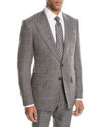 Tom Ford - Shelton Large-plaid Wool-blend Two-piece Suit - Lyst