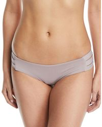 Vitamin A - Emelia Triple-strap Swim Bikini Bottom U-taupia - Lyst