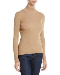 5790f1dbfe Diane von Furstenberg - Tess Metallic Ribbed-knit Turtleneck Sweater - Lyst