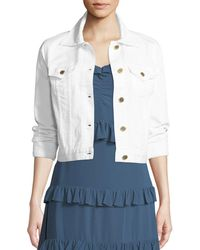 MICHAEL Michael Kors - Wide-sleeve Denim Jacket - Lyst