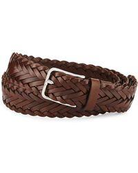 Brunello Cucinelli - Men's Woven Calf Leather Belt - Lyst