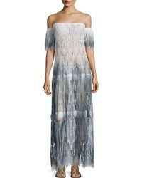 Queen & Pawn - Comino Ombré Lace Maxi Coverup Dress - Lyst