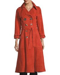 Rejina Pyo - Kirsten Double-breasted Suede Trench Coat - Lyst
