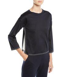 Loro Piana - 3/4-sleeve Cotton Cube Shirt - Lyst