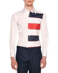 Thom Browne - Long-sleeve Funmix Striped Shirt - Lyst