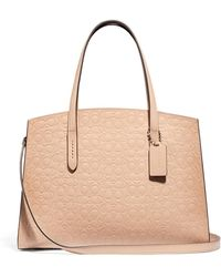 38140beac177 COACH - Charlie Signature Carryall Satchel Bag - Lyst
