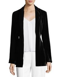 Trina Turk | Draped Velvet Bell-sleeve Smoking Jacket | Lyst