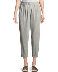 Eileen Fisher - Speckled Knit Slouchy Ankle Pants Plus Size - Lyst