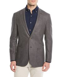 Peter Millar - Men's Crown Soft Check Wool-blend Blazer Jacket - Lyst