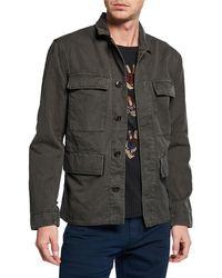 John Varvatos - Men's Perry Twill Field Jacket - Lyst
