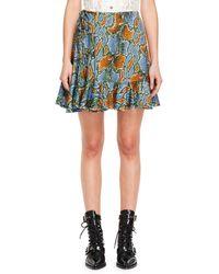 Chloé - Python-print Tie-side Jersey Ruffle Skirt - Lyst