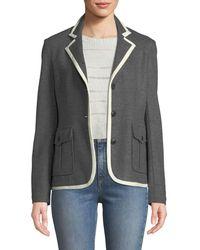 Rag & Bone - Uni Button-front Wool Blazer - Lyst
