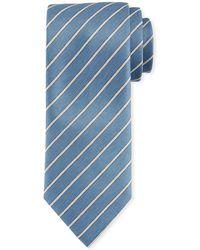 Brioni - Striped Woven Tie - Lyst