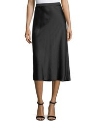 T By Alexander Wang - Wash Go Woven Satin A-line Midi Skirt - Lyst