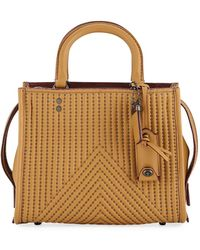 COACH | Rogue 25 Quilted Tote Bag With Rivets | Lyst