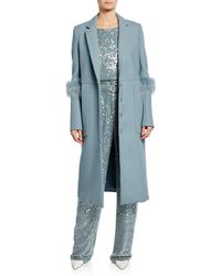 Sally Lapointe - Bonded Wool Seamed Tailor Coat - Lyst