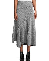 3.1 Phillip Lim - Draped Wool Asymmetric Midi Skirt - Lyst