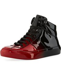 Jimmy Choo - Belgravia Men's Dégradé Patent Leather High-top Sneaker - Lyst