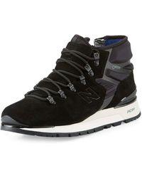 New Balance - Men's Niobium Suede & Neoprene Mid-top Sneaker - Lyst