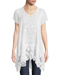 Johnny Was - Kaylyn Long Eyelet Tunic - Lyst