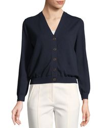 Tory Burch - Margeaux Cotton Crepe Cardigan - Lyst