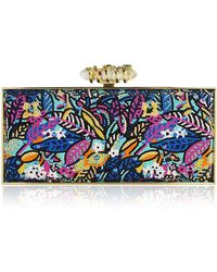 Judith Leiber - Sea Jungle Large Coffered Rectangle Clutch Bag - Lyst