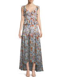 Alexis - Jewell Floral Ruffle Maxi Dress - Lyst