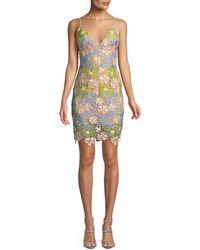 Jovani - Floral Sleeveless Mini Dress - Lyst