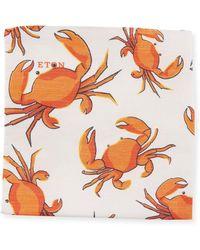Eton of Sweden - Crabs Linen/silk Pocket Square - Lyst