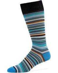 Neiman Marcus - Multi-striped Cotton-blend Socks - Lyst