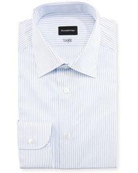 Ermenegildo Zegna - Cento Fili Three-line Stripe Dress Shirt - Lyst