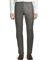 Santorelli - Men's Sharkskin Wool Dress Pants - Lyst