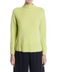 Joan Vass - Mock-neck Chenille Pullover Sweater - Lyst