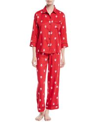 Kate Spade - Long Printed Sateen Pajama Set - Lyst