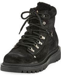 Moncler - Egide Suede Ankle Boots - Lyst