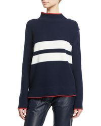 Loro Piana - Striped Button-shoulder Long-sleeve Striped Cashmere Sweater - Lyst