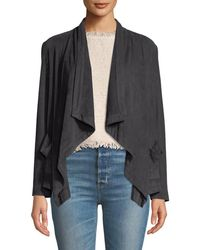 Cupcakes And Cashmere - Buckingham Faux-suede Open-front Jacket - Lyst