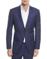 Ermenegildo Zegna - Textured Solid Wool Two-piece Suit - Lyst
