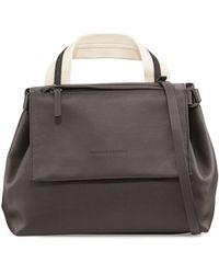 Brunello Cucinelli - Medium Leather Satchel Bag - Lyst