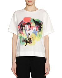 Marni - Frank Naven Collab Short-sleeve Crewneck Cotton Knit T-shirt - Lyst