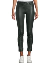 Theory - Bristol Skinny Leather Pants - Lyst